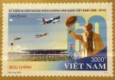Ra mắt bộ tem về hàng không Việt Nam